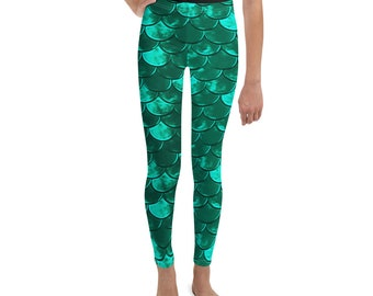 2ff0a69ec34fa7 MERMAID LEGGINGS GIRLS Mermaid Leggings Pre-Teen All-Over Print Youth  Leggings Young Adult Clothing Adolescent Clothing