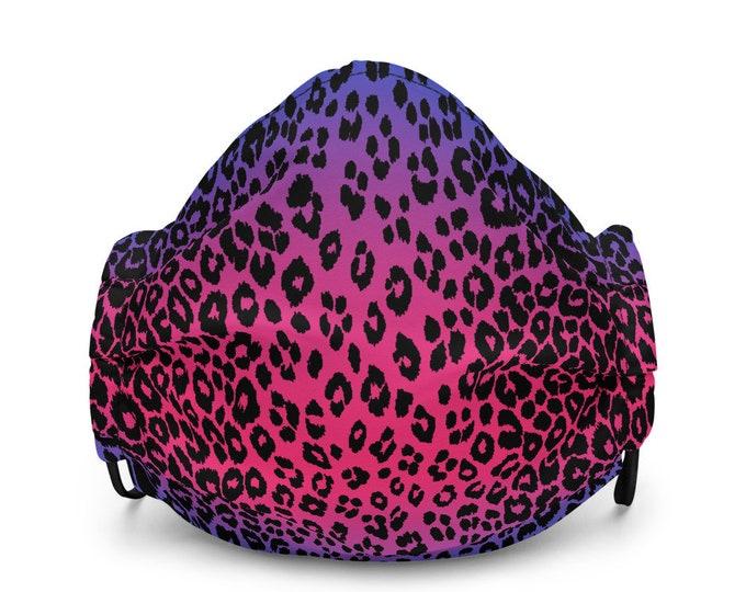 CHEETAH FACE MASK Pink and Purple Cheetah Print Leopard Print Face Mask Protective Face Mask Animal Print Face Mask Premium face mask