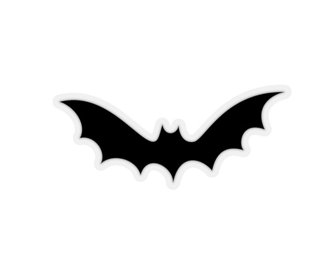 HALLOWEEN BAT STICKER Transparent or White Kiss-Cut Stickers Stationary Paper Crafts Scrapbooking Arts and Crafts Decorative Stickers