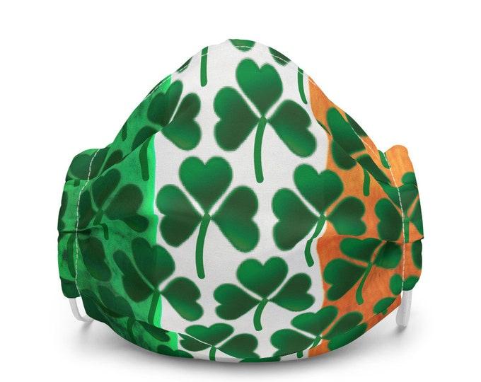 St. Paddy's Day MASK Irish Face Mask IRISH Pride Shamrock Mask Clover Mask Premium face mask for St Patricks Day Ireland Mask