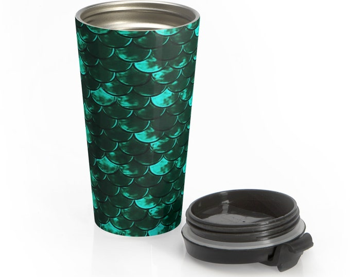 Stainless Steel Travel Mug MERMAID MUG for Hot or Cold Beverages Insulated TRAVEL Mug Drinkware Home Decor Beach Accessories Gift for her