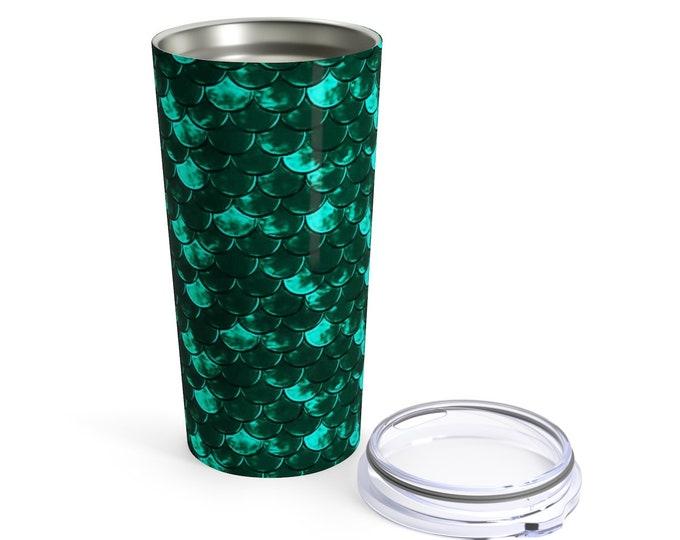 Little Mermaid Tumbler 20oz MERMAID MUG Stainless Steel w. Plastic Lid Travel CUP for Hot or Cold Beverages Drinkware Sippy Cup Mermaid Gift