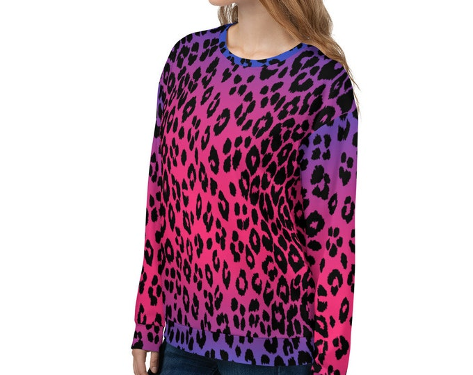PURPLE PINK CHEETAH Sweatshirt Womens or Mens Sweatshirt Unisex Sweatshirt Animal Print Clothing Cover Up Beach Hoodie Gift for Her
