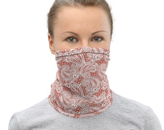 Neck Gaiter Paisley Print Lace Print FACE MASK Face Scarf Protective Face Covering Adults One Size Fits All Made in the USA