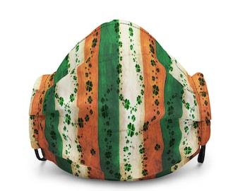 St. Patricks Day MASK Irish Face Mask Shamrock Print Mask Adult Mask St Paddy's Day Mask Saint Patricks Day Premium face mask