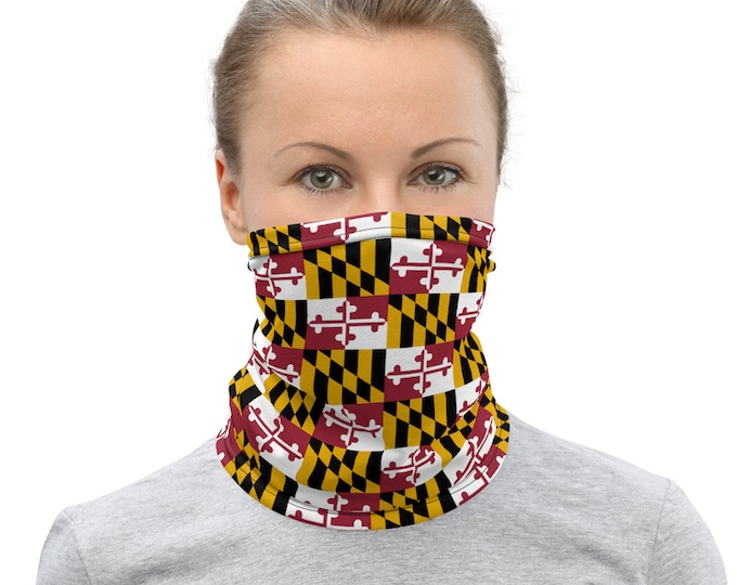 MARYLAND FLAG SCARF Mask Unisex Face Mask for Men and Women Adult Face Mask State of Maryland Protective Face Scarf Neck Gaiter Accessory