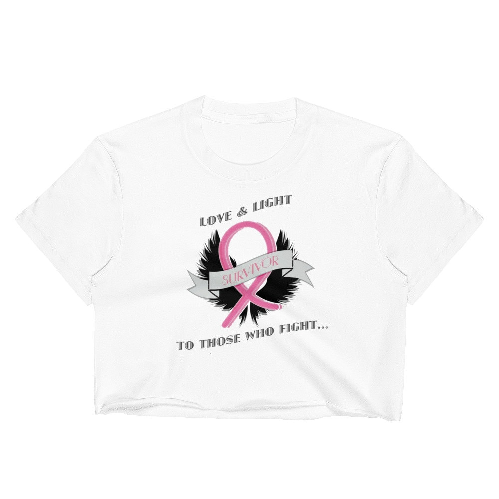 Breast Cancer Awareness Pink Gift Adults Top Survivor Ribbon Ladies T-Shirt