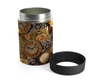 STEAMPUNK 12oz. Can Holder Beverage Holder Fits 12 oz can or beverage Futuristic Steampunk Drinkware Barware Gift for Him Gift for Her