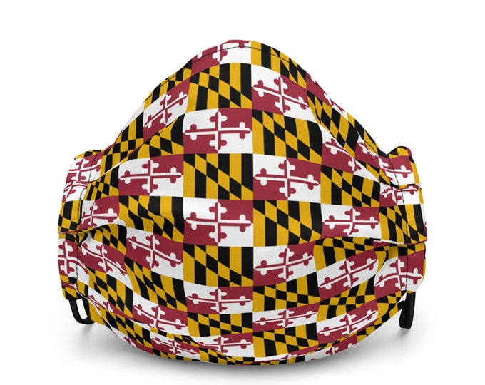 MARYLAND FLAG MASK Premium face mask for Adults Face Mask Maryland Mask Face Mask Maryland Pride Face Mask Protective Face Mask with Filter