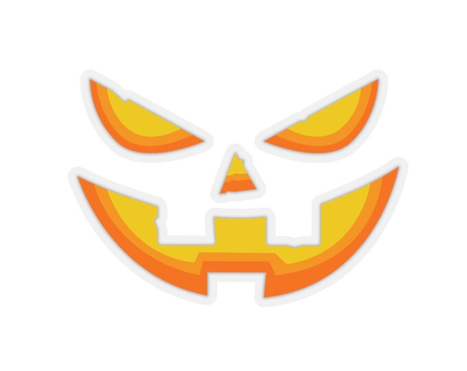 JACK O' LANTERN Halloween Pumpkin Face Cut out Sticker Kiss-Cut Stickers Stationary Paper Crafts Card Making Scrapbooking Halloween Stickers