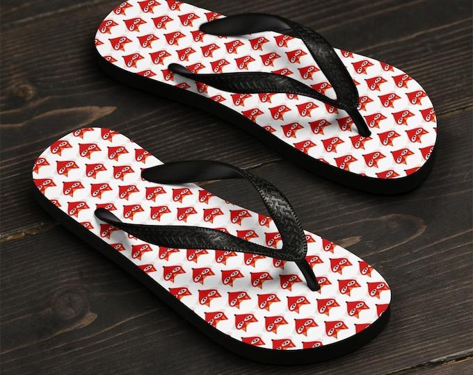 FOX FLIP-FLOPS Thong Sandals Flip Flops Fox Print Beachwear Beach Flip Flops Unisex Flip-Flops Summer Fashion Clothing Slippers Sandals