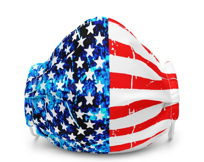 AMERICAN FLAG USA Mask Independence Day Face Mask for Adults Unisex Premium face mask Protective Face Covering Fourth of July Accessories