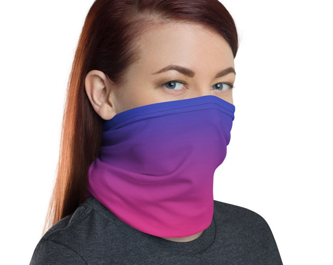 Pink and Purple FACE MASK Face SCARF Protective Face Covering Face Mask Neck Gaiter Unisex Accessories for Men and Women Face Mask Covering