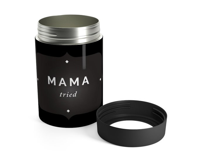 COZIES Mama Tried 12 oz. Aluminum Can Holder Hide Your Booze Beer Can Concealer Beach Accessories Tailgate Gift for Mom Gift for Dad