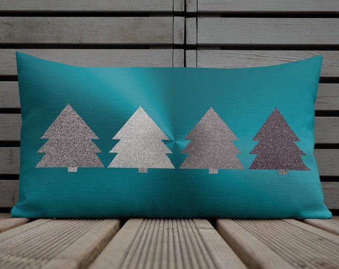HOLIDAY Pillow Christmas Pillow Vintage Christmas Decorative THROW PILLOW Christmas Tree Pillow Home Decor Christmas Decoration Couch Pillow