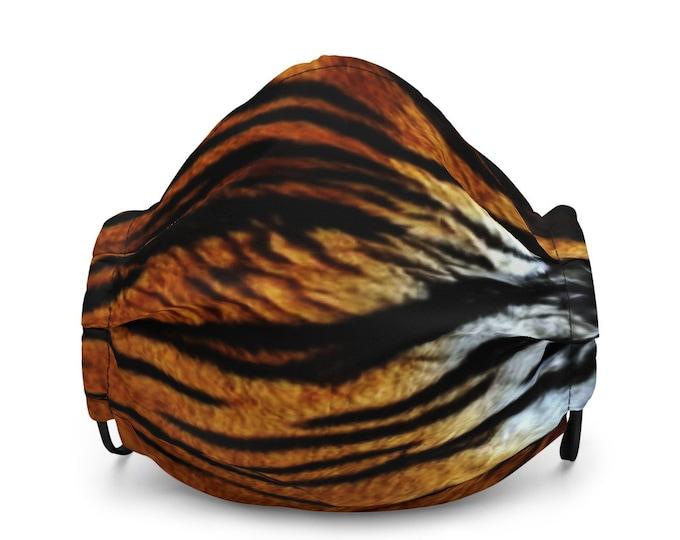 TIGER MASK Animal Print Tiger Stripe Face Mask Premium face mask with Filter Pockets ANIMAL Print Face Mask Protective Face Mask