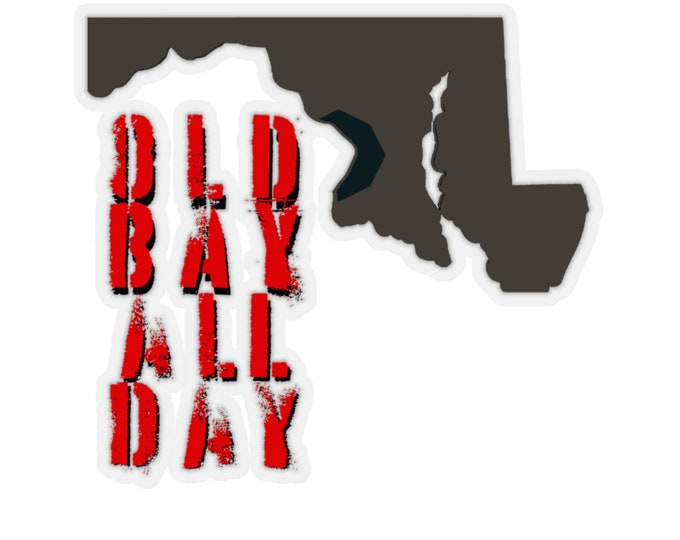 MARYLAND Old Bay All Day STICKER Scrapbooking Card Making Kiss-Cut Stickers Paper Arts and Crafts Back to School Maryland State Pride Gift