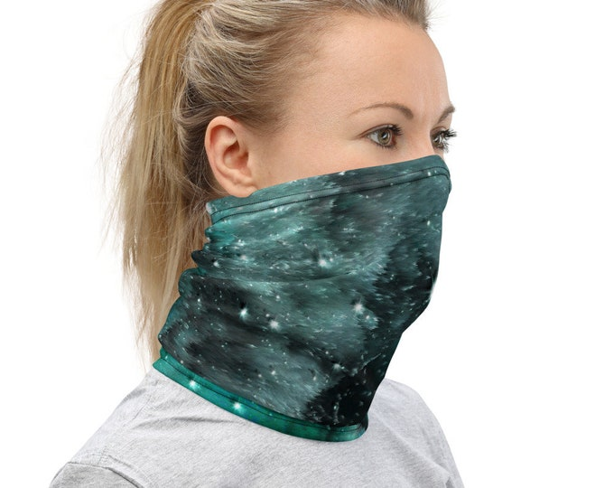 GALAXY SCARF Face MASK Facial Covering Protective Face Scarf for Men or Women Adult Unisex Face Scarf Neck Gaiter