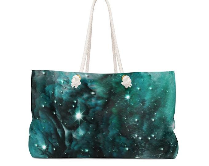 Galaxy Weekender Bag GALAXY Art All Over Print Overnight Bag TOTE Beach Bag Sports Bag Wet & Beach Bag Yoga Bag Gift for Her Gift for Her