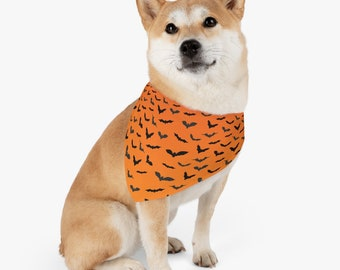 Pet Bandana Collar HALLOWEEN BAT COLLAR Dog Accessories for Halloween Bat Print Bandana Collar Dog Costume Halloween Costume fo Dogs Gift