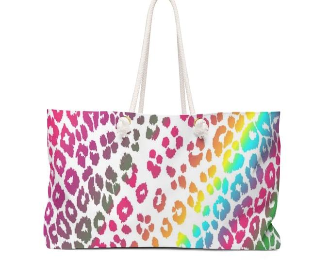 CHEETAH TOTE BAG Cheetah Print Tote Bag Animal Print Weekender Bag Designer Fashion Tote Gym Bag Workout Bag Yoga Bag Travel Tote Oversized