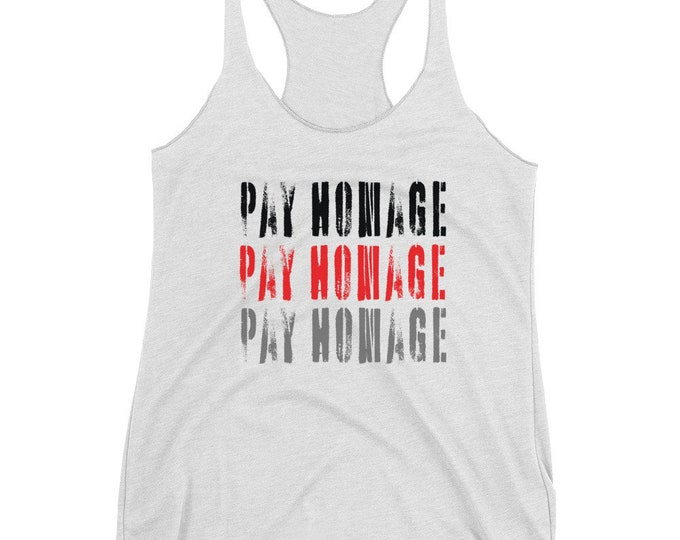Pay Homage STATEMENT TANK TOP Womens Work-Out Clothing Women's Racerback Tank Top Sleeveless Loose Jersey Tank Top for Women Activewear