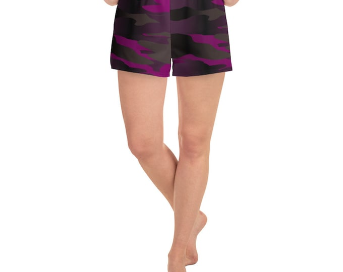 Women's Athletic Short Shorts CAMOUFLAGE SHORTS WOMENS Workout Clothing Gym Shorts Camo Print Shorts Joggers Fitness Shorts With Pockets