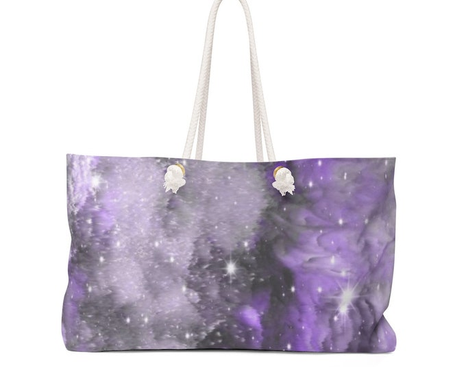 Weekender Bag GALAXY Art All Over Print Overnight Bag TOTE Beach Bag Sports Bag Wet & Beach Bag Yoga Bag Gift for Her Gift for Mothers Day