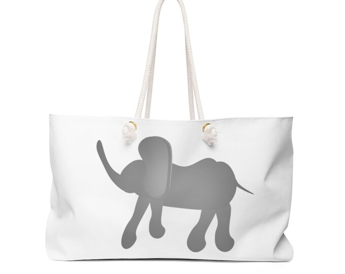 ELEPHANT TOTE BAG Weekender Bag Travel Tote Elephant Bag Beach Bag Travel Tote Bag Purse Hipster Tote Gift for Mom Gift for Her Bestie Gift