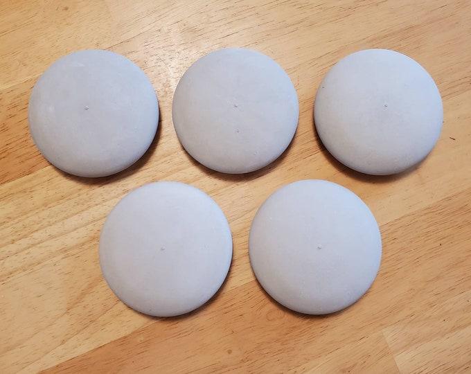 "Blank Rocks for Painting Round Mandala Stones Set of 5 Large 3"" Smooth Dot Painting Boho Decor Dot Art Gift Office Shower Activity"