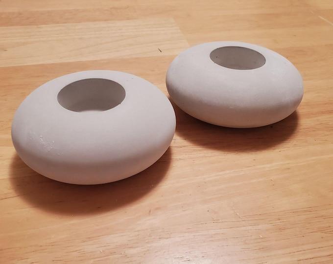 """Candle Holder Rocks for Painting Set Of 2 Blank Round Extra Large 4.5"""" Mandala Handmade Stones Smooth Dot PaintingLarge Boho Decor Gifts="""