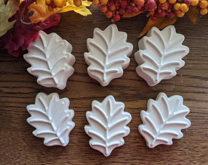 Rocks for Painting Leaves Set of 6 Large Blank Handmade Stones Fall October Decor Gift