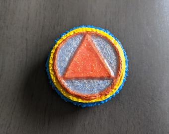 "Recovery Mandala Token Stone 1.5"" Metallic Medallion AA Boho Gift Sobriety Decor"