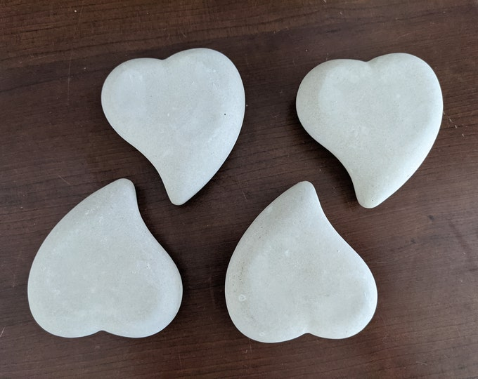 """Blank Rocks for Painting Twist Heart Set of 4 Blank Stones Large 3"""" Smooth Dot PaintingBoho Decor Dot Art Gift Office Shower Activity"""