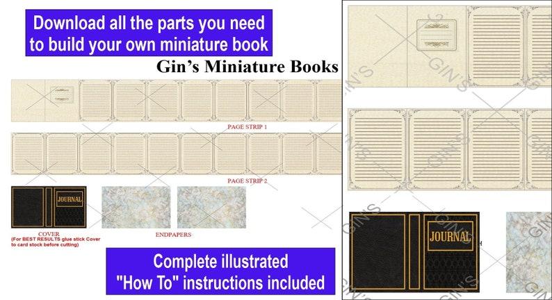 DIY Miniature Book Parts  Antique Journal image 0