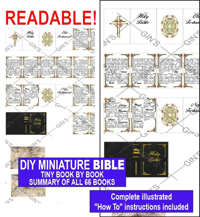 DIY Miniature BIBLE Parts  Pretty Framed image 0