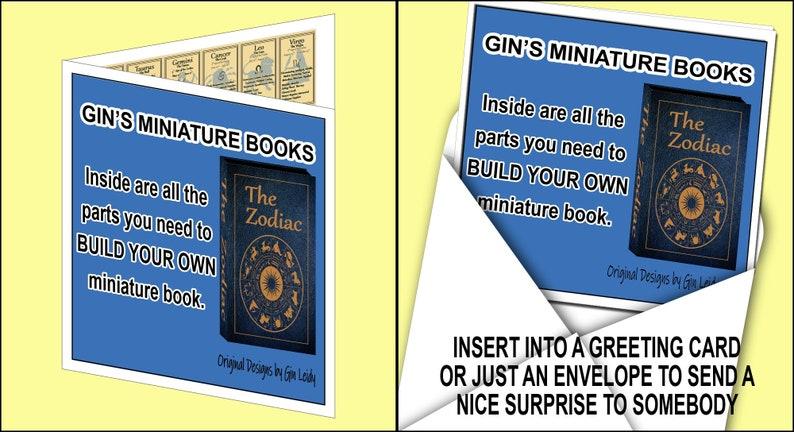 DIY Mini Book in a Card The Zodiac image 0