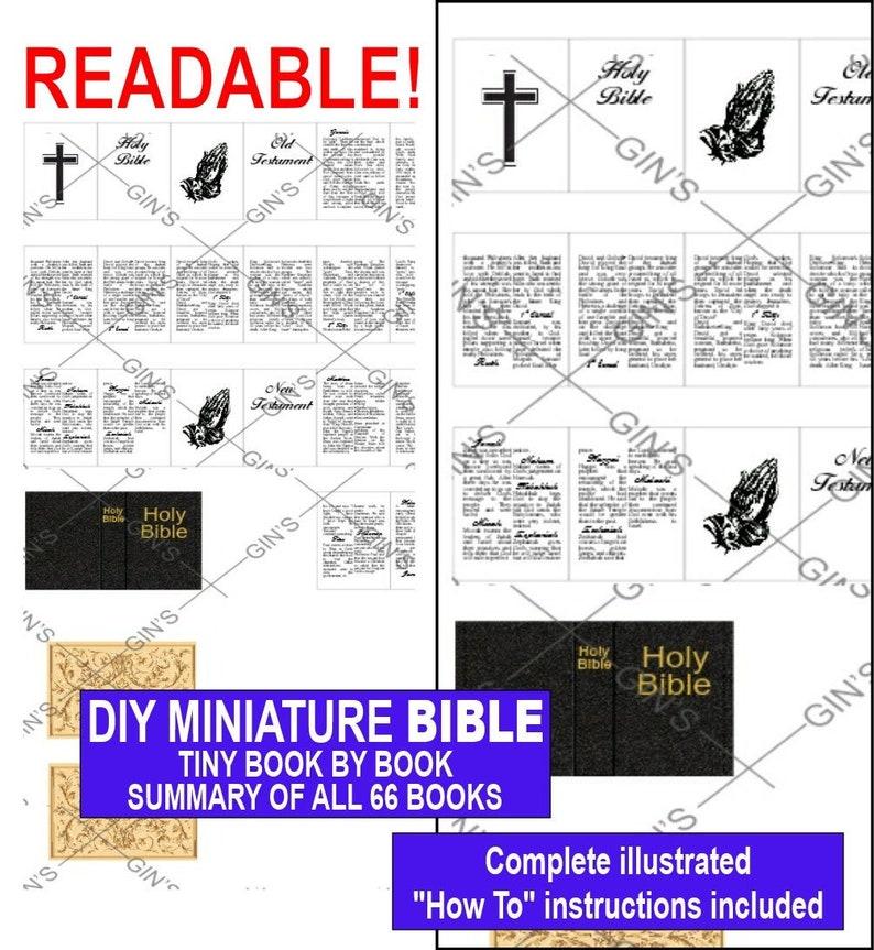 DIY Miniature BIBLE Parts  Plain image 0