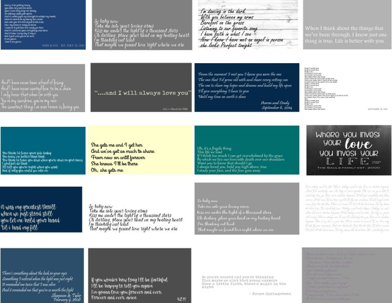 Song Lyric Canvas Lyrics on Canvas Custom Song Lyric Art Song Lyric Print Favorite Song Lyric Art Song Lyric Framed