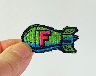 5 Cartoon Air Bomb Iron onSew on Patch Buy 2 Get 1 Free #P-4087 Embroidered Patch