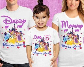 15f985218 Birthday princess shirt,Custom birthday tees, Birthday party shirt,Little  princess shirt, First princess day, Princess custom name,B#57.  FAMILYTIMEUS. 5 ...