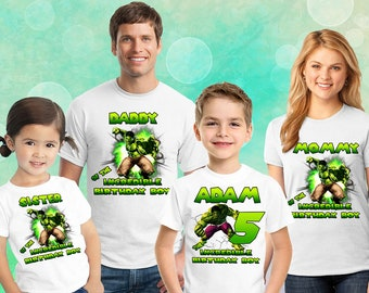 79128991 Incredible Hulk Superhero Personalized T-shirt, Superhero shirt,Gift for  the girl, Toddler, Youth, Adult Sizes, Boys and Girls shirts D#4