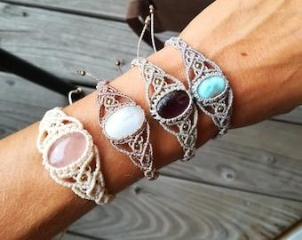 Chakra gemstone bracelet with black tourmaline /& 304 stainless steel closure ~ GOA ~ hippie ~ boho ~ Ethno ~ Indie ~ Nature ~ Healing Stone