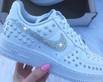007553152582 Bedazzled custom Nike airforce 1 s
