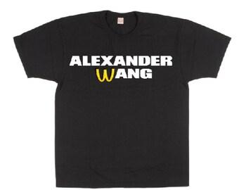 9b163b82 Alexander wang McDonald's vintage gaming tour Homage Rap Hip Hop T Shirt  Vegan S-3XL Unisex Loose Fit