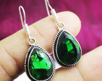Jewelry & Watches Chrome Diopside Gemstone Ethnic Style Handmade Jewelry Earrings Pendant Set