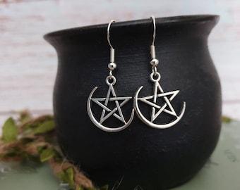 pagan jewellery dark priestess, shaman earrings wiccan earrings Hecate Earrings Bird Skull earrings Morrigan Earrings pagan jewelry