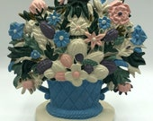 Painted Cast Iron Flower Bouquet Figurine Statue Door Stop Midwest Importers of Cannon Falls, Inc.