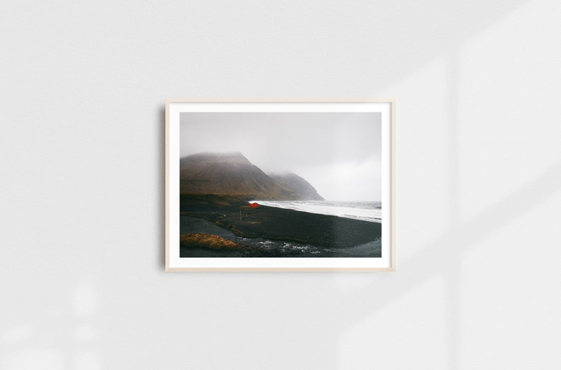 Ocean Print Sea Coastal Decor Seascape Scandinavian Modern image 0