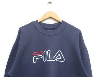 776e060692 Vintage Fila Big Embroidery Logo Sweatshirt